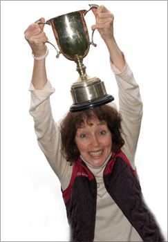 Pam Clarke with Trophy