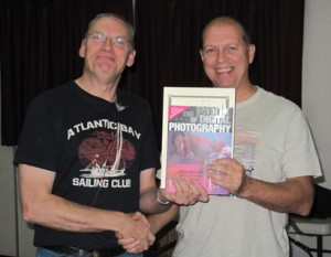 Jeff (R) receiving the award from Colin Douglas ARPS
