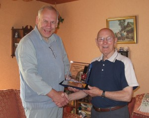 Ted receiving his award from our President  Martin Reece