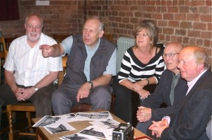 From L2R, Colin Thwaite, Martin Reece, Irene Drummond, Ted Baker and John Sergeant