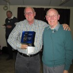 Mike receiving the Alec Balmer Trophy from Ted Baker FRPS