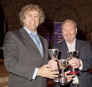 Paul Matthews receiving his awards from Roger Phillips