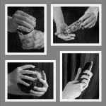 22 HOLDING HANDS MONO PRINT PANEL
