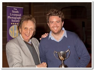 Paddey Donnelly receiving yet another award from Ken Dodd OBE