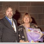 Ken Dodds 'She who will be obeyed!', Anne Jones receiving flowers from our President Paul Matthews