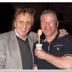 Never one to be left out, Ian Kemp receives his trophy from Ken Dodd OBE