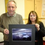 "Carol Schlijper wins the print round with ""Atlantic Iceland"". Judge Ian Stewart ARPS DPAGB."