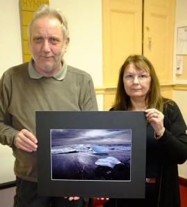 "Carol Schlijper wins the print round with ""Atlantic Iceland"". Judge Ian Stewart ARPS DPAGB."