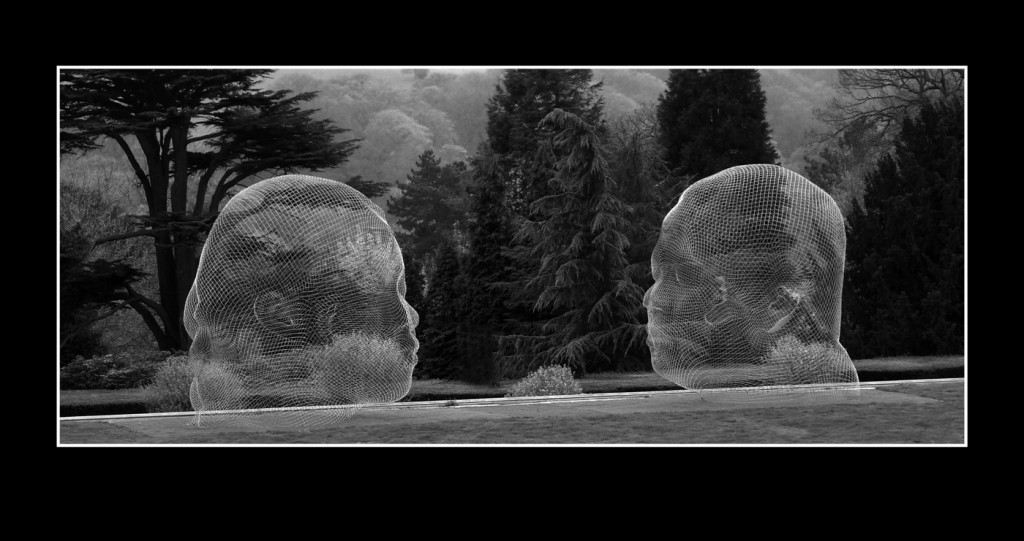 'Are you talking to me'. I love to look at and take black and white photographs. The absence of colour can add real mood, atmosphere and detail to the subject. This one is part of an exhibition by Plenza at the Yorkshire sculpture park. Plenza is also the creator of the dream seen of the M62 at Sutton Manor.