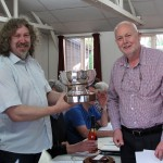 Alan accepting the Peter Kay Trophy from our President 2.