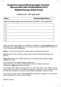 Merseyside Life 2015 Entry Form