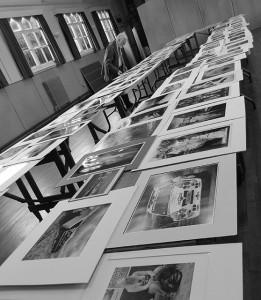 John Riley ARPS judging the prints. (Photo by Irene Drummond)