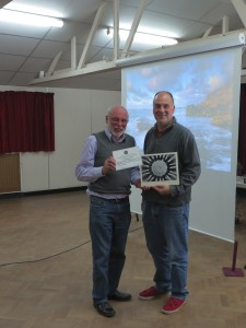 Alan Shufflebotham won the Mono Print Section and Ed Foy picked it up for him. He also won the best image of the competition.