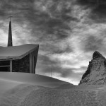 Riffleberg church and Matterhorn
