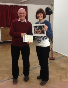Barbara receiving her certificate for Best Colour Print Image.