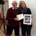 Irene receiving her certificates for Best Mono Print Image and Best Overall on the Night Images
