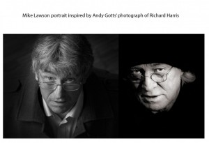 Mike Lawson portrait with Richard Harris
