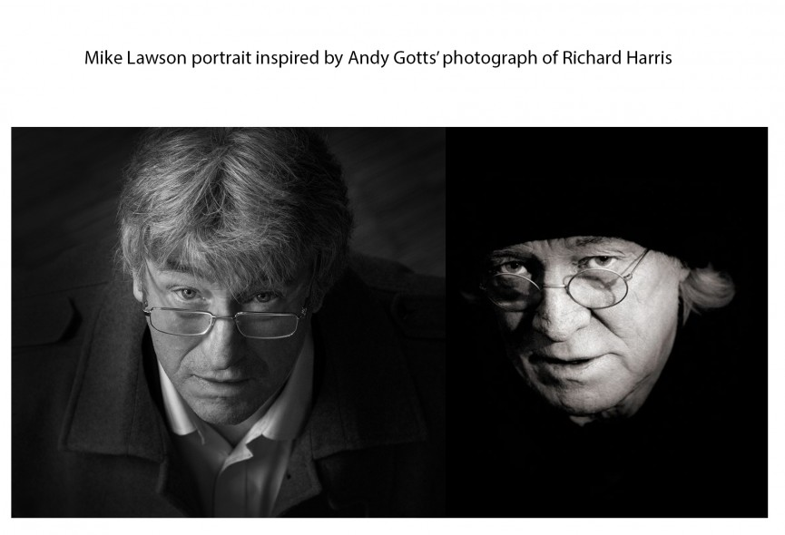 Mike Lawson portrait with Andy Gotts