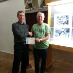 Tony Morrissey receiving his Winners Certificate for his Mono Print Panel