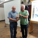 Ed Foy Receiving his Certificate for his Winning Colour Print Panel.