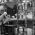 "1st Place Digital Mono - Bert Whittlestone with his well observed image ""Man in a Bar""."