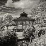Ist Place Mono Print - Bill Mc Donough with this wonderful rendition in infra red of Sefton Park bandstand.