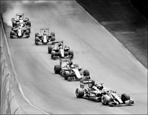 """1st Place Digital Mono - Tony Myers with """"Race to the Finish"""""""