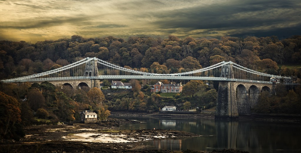 'Menai Bridge' by William McDonagh was the Colour Print Winner