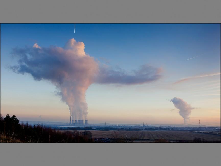 "First Place Colour Print ""Vapour Clouds' by Alan Shufflebotham"