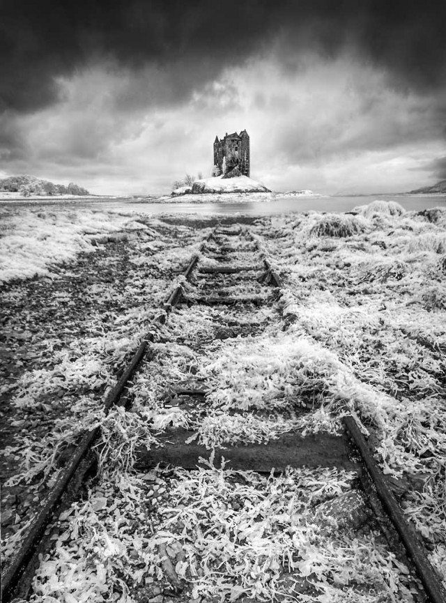 "First place Digital Mono ""Castle Stalker"" by Dave Harding"