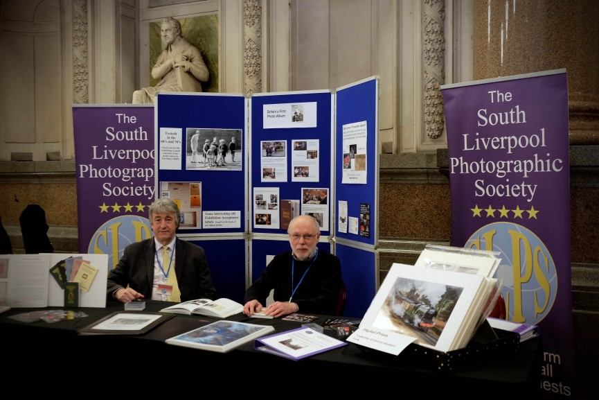 Mike and Ed 9.30 am on Day 1 at the Big History Show. All set up and raring to go!