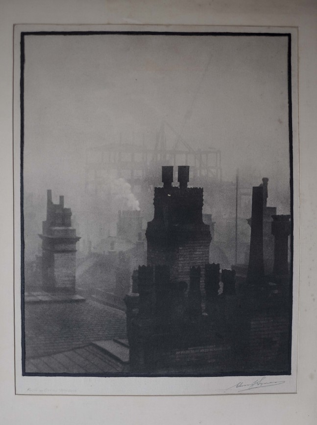 From an Office Window by Chris J Symes FRPS 1920's. Visitors enjoyed being able to handle these archived prints.