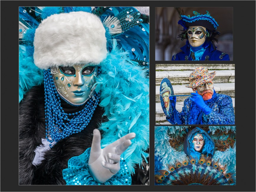 Venice Carnival Figures by Martin Reece