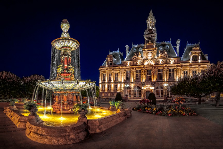 "First Place Colour PDI and Best Overall Image of the Competition ""Limoges Town Hall"" by Dave Harding"