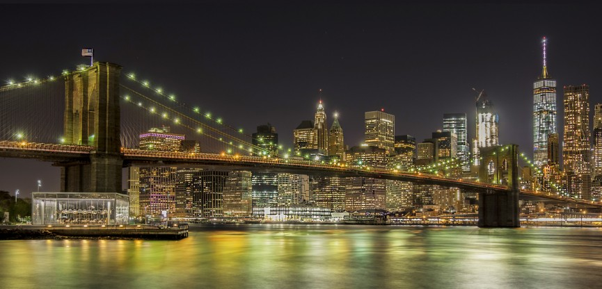 """First Place Colour Print. """"Brooklyn Bridge"""" by Irene Drummond"""