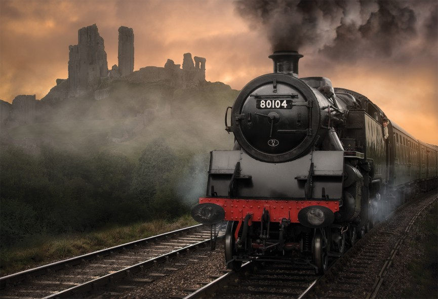 "First Place Colour Print - ""Corfe Steam Railway"" by Dave Harding CPAGB"
