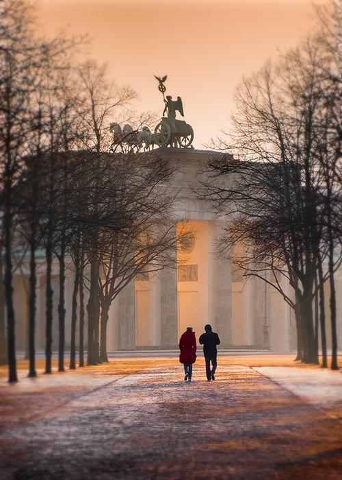 """""""Misty Morning Walk in Berlin"""" by Paul Matthews"""