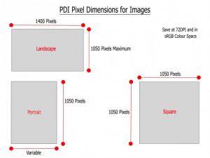 PDI Image Dimensions