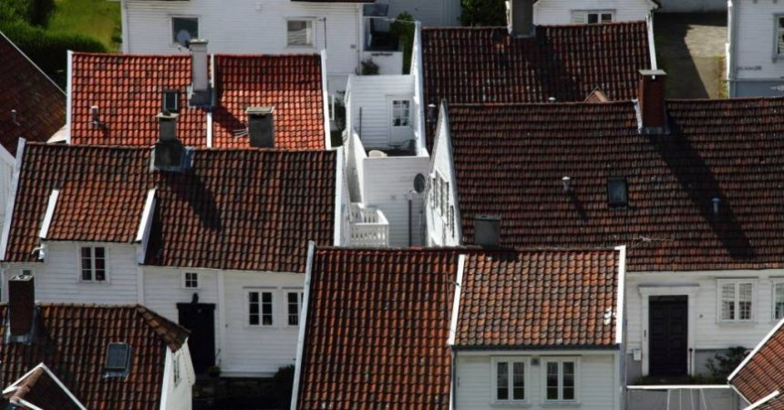 Roofs of Stavanger by John Snape