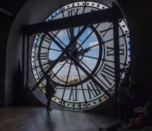 """First Place Digital Colour section and Best Overall Image of the competition - """"Tourists around the clock"""" by Irene Drummond"""
