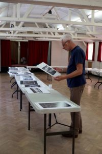 Tillman Kleinhans Our examining our prints submitted for the Annual Print Competition 2018