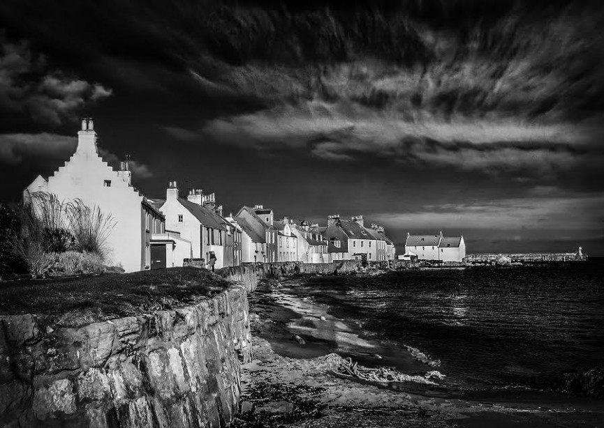 "First Place Digital Mono. ""Sunshine on St Monans"" by Irene Drummond"