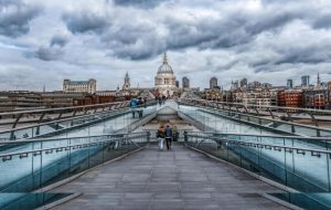"First Place Colour Print and Best Overall Image in the Competition.  ""London Skyline"" by Christine Lowe"