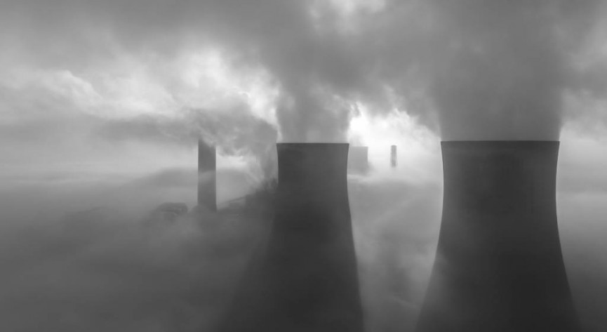 "First Place - ""Mist over Fiddlers Ferry Power Station"" by Ian Kemp"