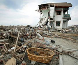 Aceh after the Tsunami in 2004 -  Photo by Jim Holmes