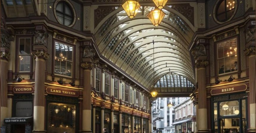 "First Place Colour Print and Best Overall Image of the Competition ""Leadenhall Market London"" by Barbara Green"
