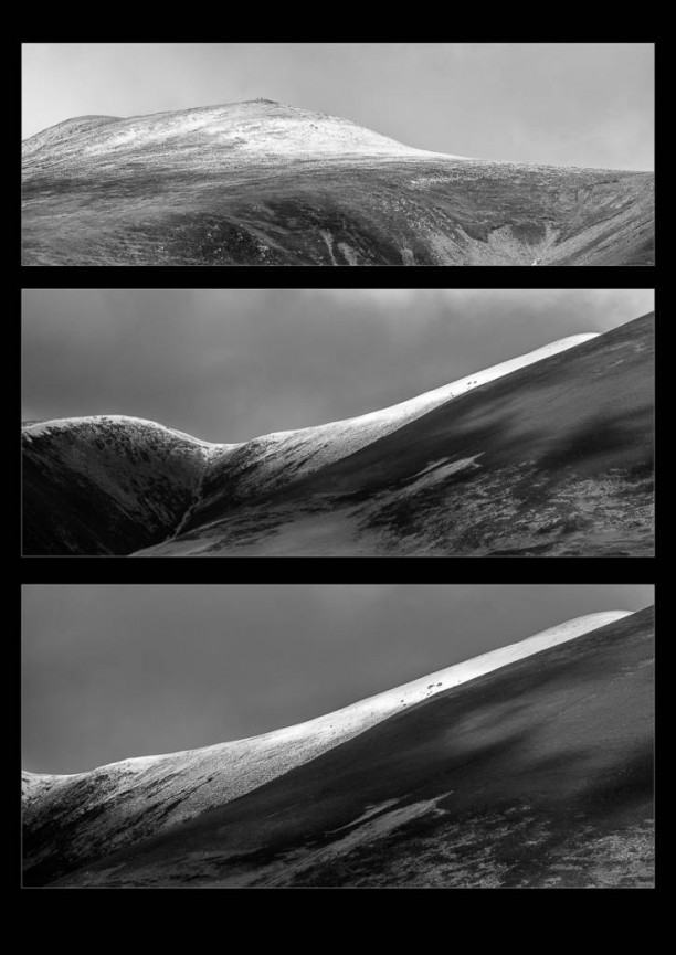 "First place Mono Print and Best Image in the Competition ""Skiddaw Ice"" by Derek Gould"