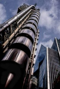 """""""Lloyds of London"""" by Irene Drummond First Place in Record and Architecture Print section."""