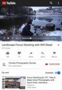 Chorley video screen shot
