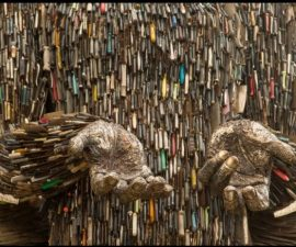 """Knife Angel Implores"" by Paul Hamilton"
